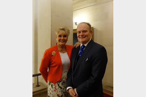 Angela Rippon and Gary Rycroft at Elderly Client Conference 2015